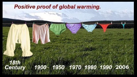 Global Cooling Impact: larger underwear